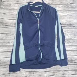 Alo Yoga Blue Lightweight Zip Up Jacket